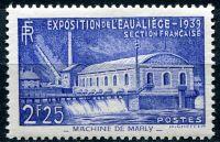 """(1937) MiNr. 449 * - Francie - Výstava """"Voda"""" v Liège."""