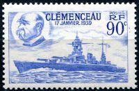 """(1939) MiNr. 443 ** - Francie - Bitevní loď """"Clemenceau"""""""