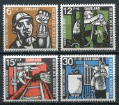 (1957) MiNr. 404 - 407 ** - Saarland - těžba uhlí