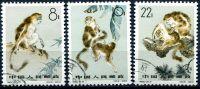 (1963) MiNr. 741 - 743 - O - Čína - opice