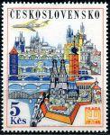 (1967) č. L 62 ** - ČSSR - Letecké známky - Praga 68