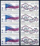 (1968) č. 1719 - 1720 ** - 4-pá - Československo - 50. výročí vzniku Československa