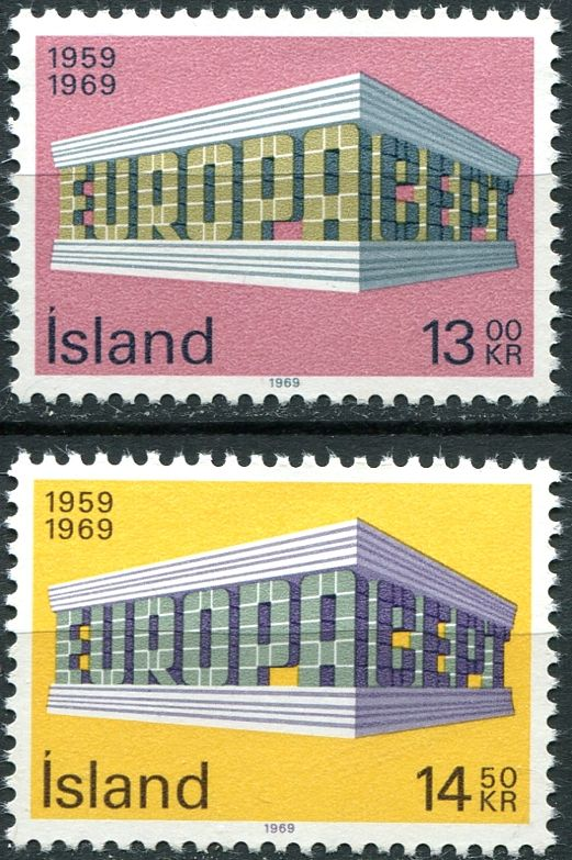 (1969) MiNr. 428 - 429 **- Island - Europa