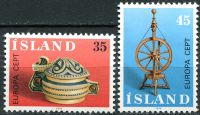 (1976) MiNr. 514 - 515 **- Island - Europa
