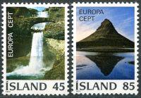 (1977) MiNr. 522 - 523 **- Island - Europa