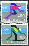 (1980) MiNr. 1821 - 1822 ** - Jugoslávie - ZOH Lake Placid