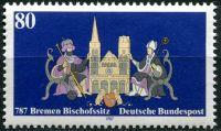 (1987) MiNr. 1329 ** - Německo - Biskupství v Brémách