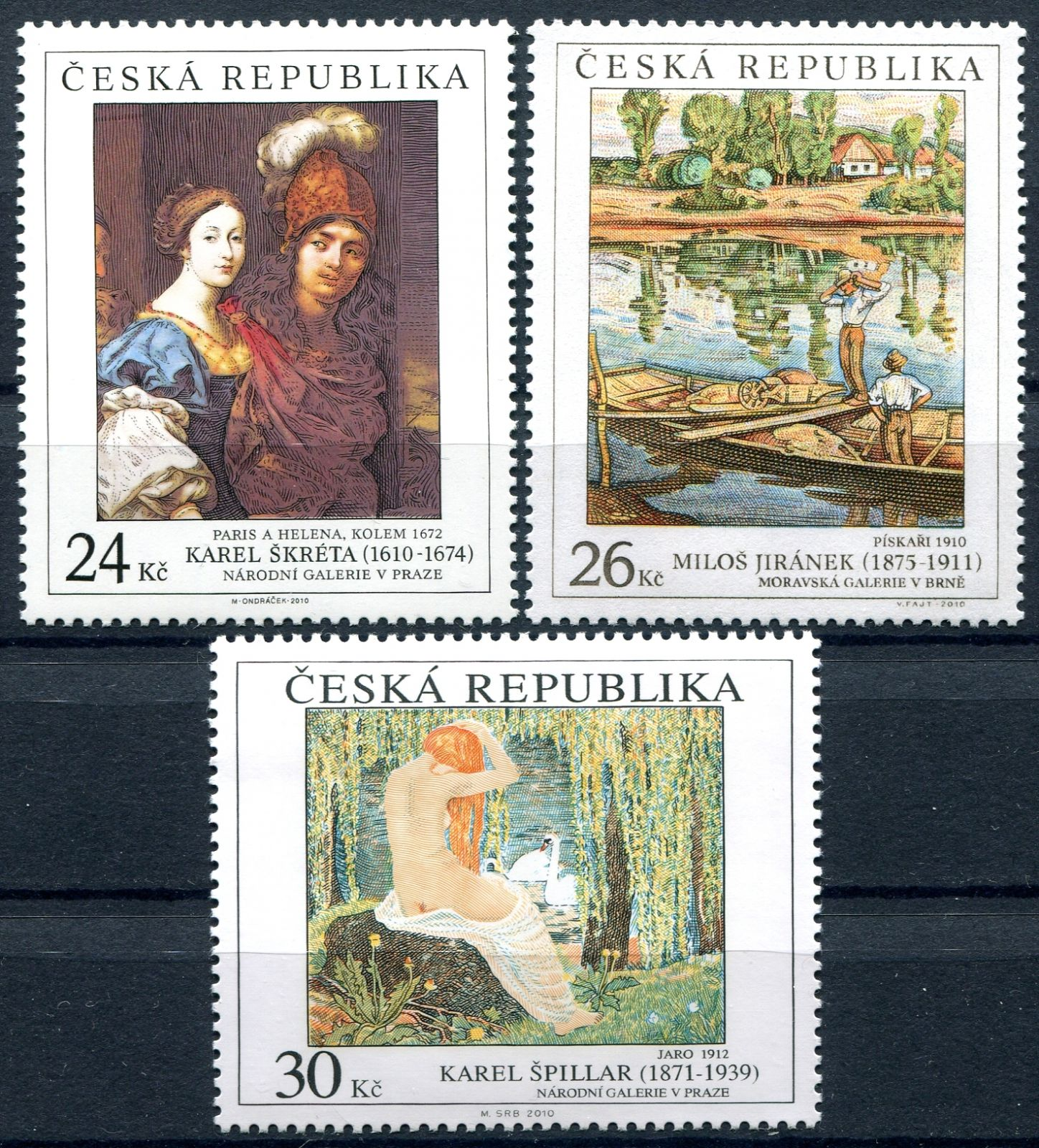 (2010) č. 661-663 ** - Česká republika - Umění 2010