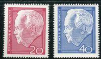 (1967) MiNr. 542 - 543 ** - Německo - Heinrich Lübke (II.)