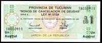 Argentina - provincie Tucumán (P -S2713b.1) - 1 Australes (30.11.1991) - UNC