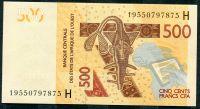 CFA- Niger (H) - (P  ) 500 Franks (2019) - UNC
