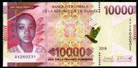 Guinea - (P 52) 10.000 FRANCS (2018) - UNC