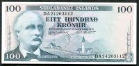 Island - (P 44a.12) 100 Kronur (1961) - UNC