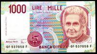 Itálie - (P 114c)  1000 Lire (1990) - UNC