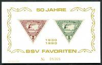 Pamětní list - Rakousko - BSV 1930-1980