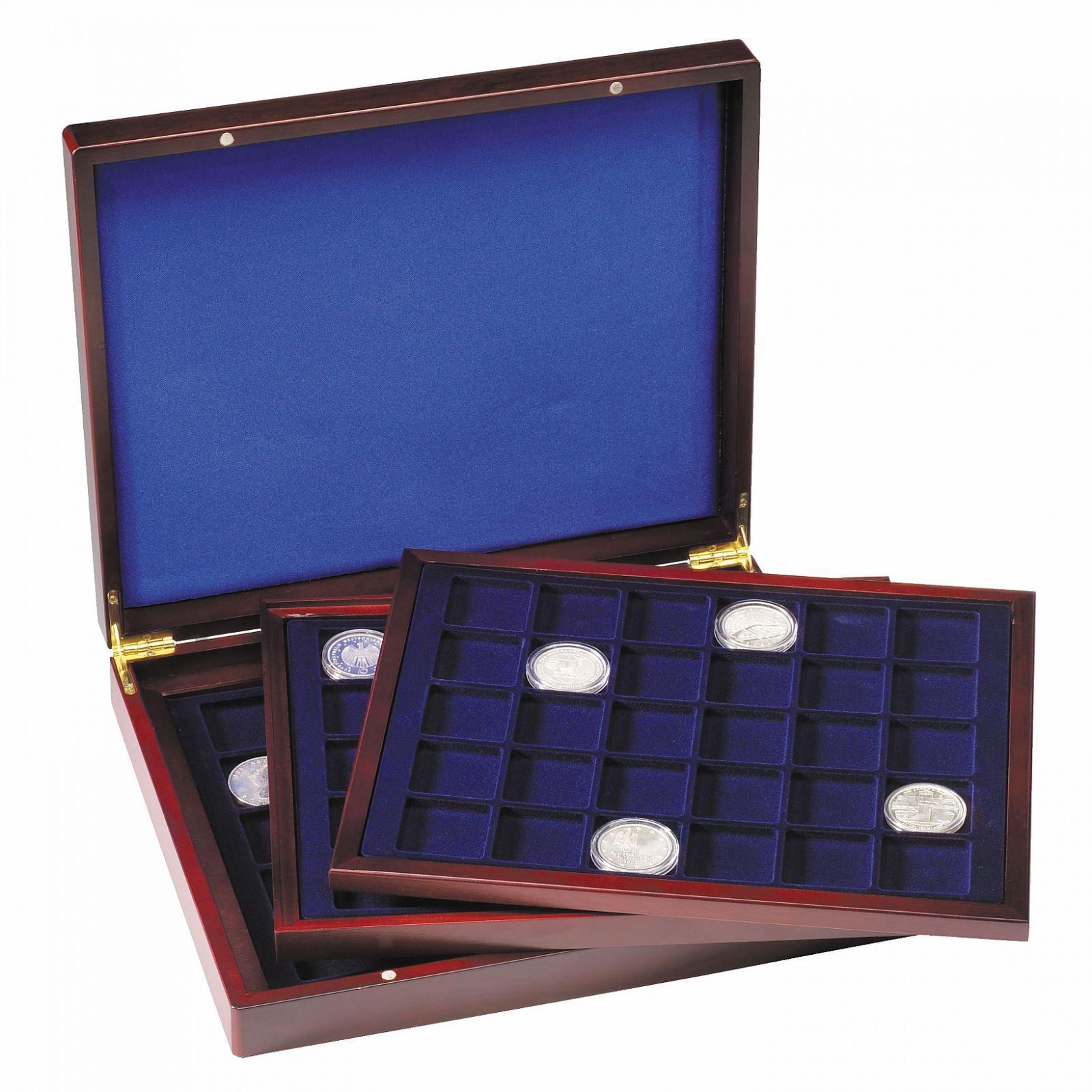 VOLTERRA TRIO mincovní kazeta pro 90 mincí do Ø 39 mm