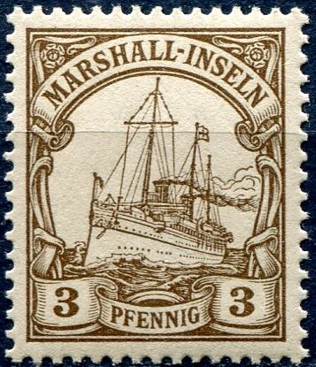 (1901) MiNr. 13 ** - DR/ Marshall-Inseln - 3 Pfenning