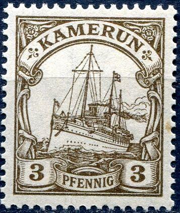 (1918) MiNr. 20 ** - DR/ Kamerun - 3 Pfenning