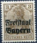 (1919) MiNr. 137 ** - Bayern - Deutsches reich (84 II) - přetisk