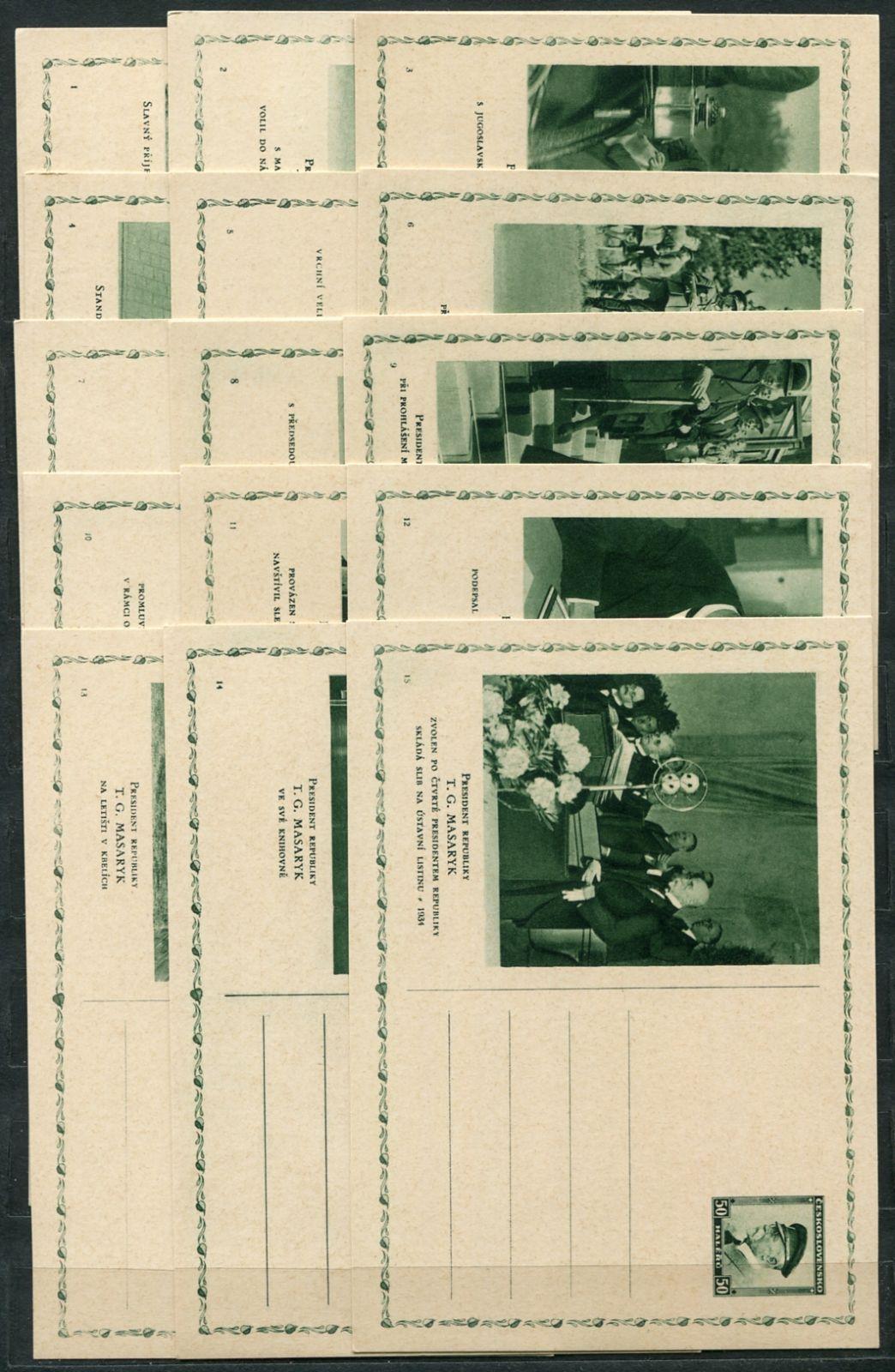 (1936) CDV 60 ** - (1-20) Ze života prezidenta Masaryka