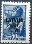(1941) MiNr. 5 **- Lotyšsko - přetisk