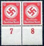 (1944) MiNr. D 172 ** 2-pá - Deutsches Reich - Služební známka