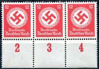 (1944) MiNr. D 172 ** 3-pá + poč. - Deutsches Reich - Služební známka
