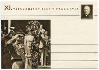 (1948) CDV 90 B ** - (č. 2) XI. VŠESOKOLSKÝ SLET V PRAZE 1948