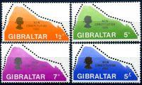 (1969) MiNr. 225 - 228 ** - Gibraltar - Nová ústava.