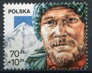 (1988) MiNr. 3155 ** - Polsko - Olympijské stříbro Jerzy Kukuczka
