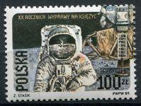 (1989) MiNr. 3206 II. A ** - Polsko - 20. výročí prvního pilotovaného přistání na ...