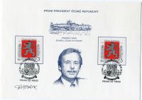 (1993) PAL 1 - Václav Havel - První prezident České republiky + podpis Herčík