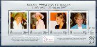 (1998) MiNr. 818 - 821 ** Block 32 - Gibraltar - Prinzessin Diana