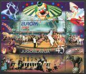 (2002) MiNr. 3078 ** - Jugoslawien - BLOCK 53 - EUROPA - Zirkus