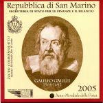 (2005) - 2 € - San Marino - Světový rok fyziky - mincovní karta (UNC)