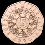 (2013) 5 € Cu - Rakousko - Země vod (UNC)