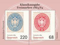 (2018) MiNr. 3384 - 3385 ** - Rakousko - BLOCK 98 - Klasické známky (V.)