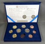(2012) Set 10 ks mincí v kazetě + certifikát (BU); sada € + replika
