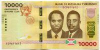 Burundi - (P 54a) 10 000 Francs (2015) - UNC