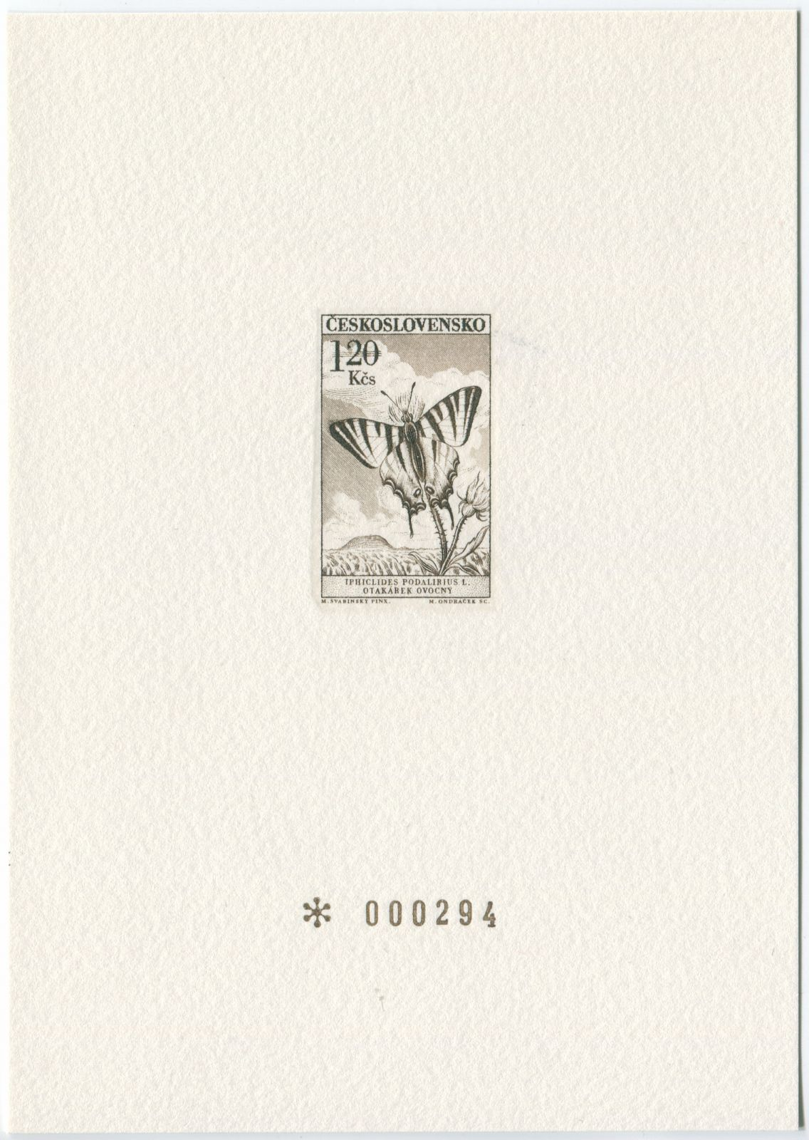 """Grafický list - příloha k monografii """"Motýli"""""""