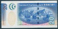 Hong Kong (P291) - 20 Dollars, Standard Chartered Bank (2003) - UNC - Mytologické ryby