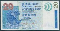 Hong Kong (P291) - 20 Dollars, Standard Chartered Bank (2003) - UNC - Mythologische Fische