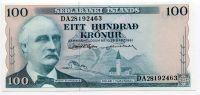 Island - (P 44a.7) 100 Kronur (1961) - UNC