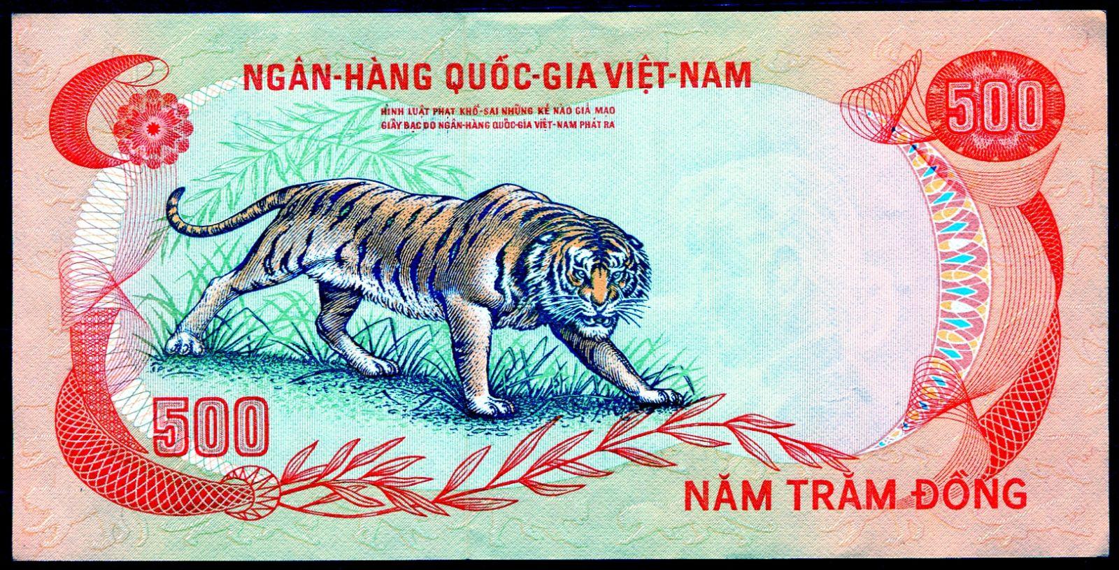 Jižní Vietnam (P 33) 500 Dong (1972) UNC