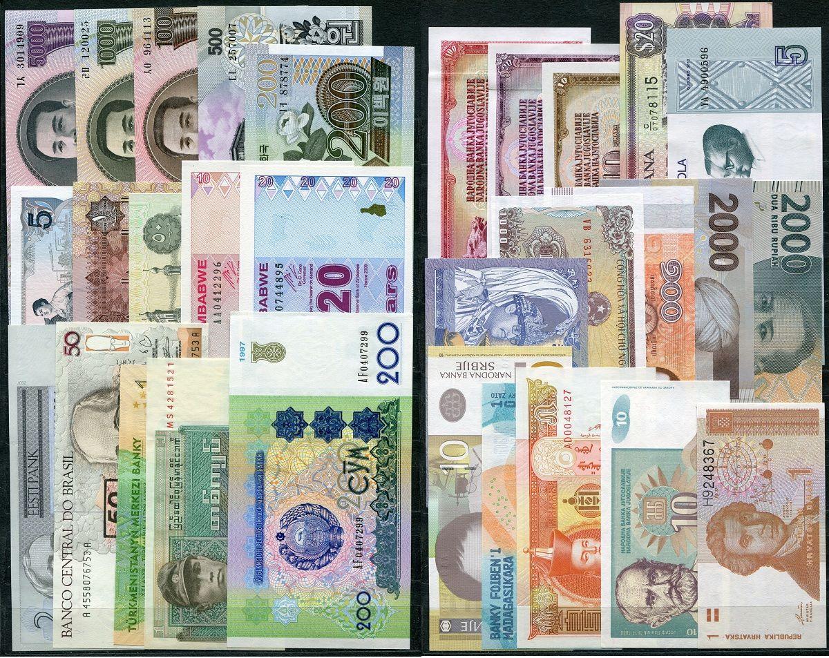 Sestava bankovek: celý svět 30 ks