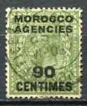 (1934) Gi. 209 - O - Morocco Agencies - Jiří V. - přetisk 90 CENTIMES
