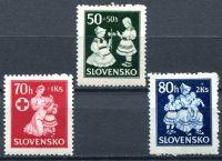 (1943) MiNr. 112 - 114 ** - Slovenský štát - Pomoc dětem
