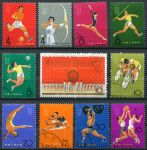 (1965) MiNr. 903 - 913 - O - Čína - 2. Národní sportovní hry