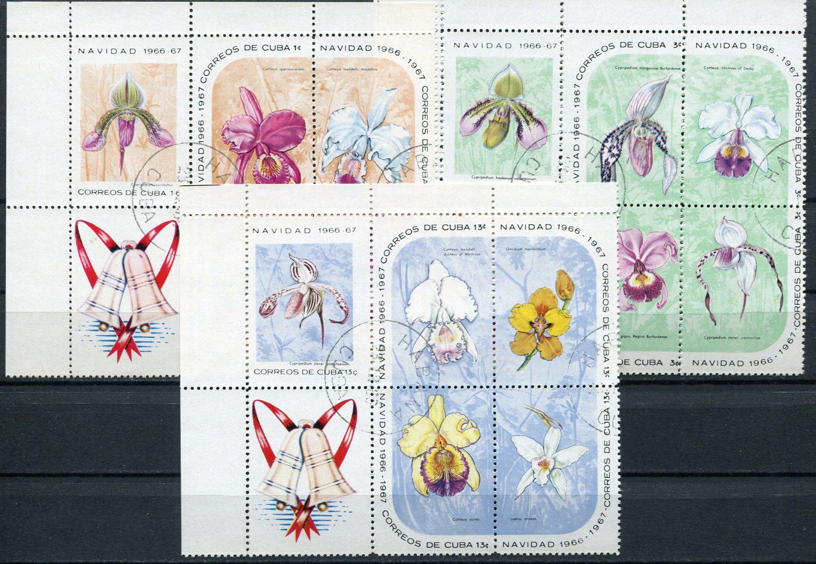 (1966) MiNr. 1249 - 1263 - O - bl. + K - Kuba - Vánoce: orchideje | www.tgw.cz