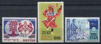 (1967) MiNr. 139 - 141 ** - Bhútán - přetisková série